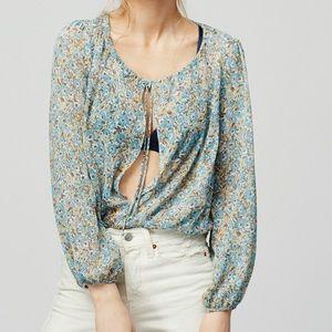 Free People Elsa Floral Blouse Bodysuit